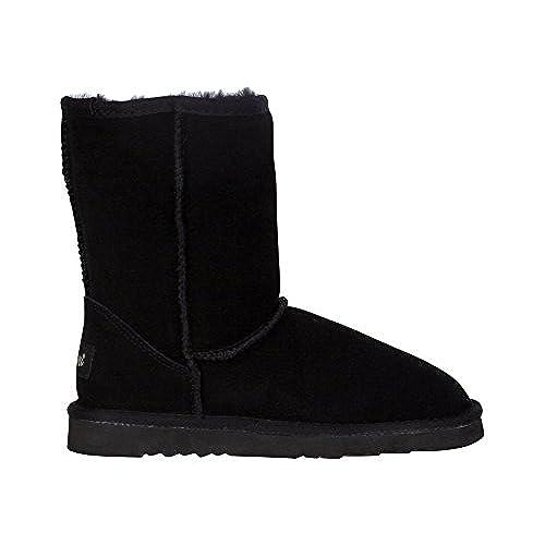 Kemi Womens Bella Classic Short Winter Boots Suede Ladies Winter Snow Boots
