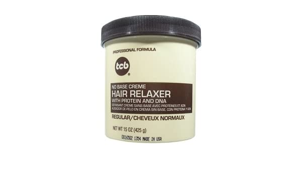 Amazon.com: TCB Professional Formula No Base Crème Hair Relaxer with Protein and DNA REGULAR STRENGTH 15oz/425g: Health & Personal Care