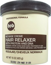 - TCB Professional Formula No Base Crème Hair Relaxer with Protein and DNA REGULAR STRENGTH 15oz/425g