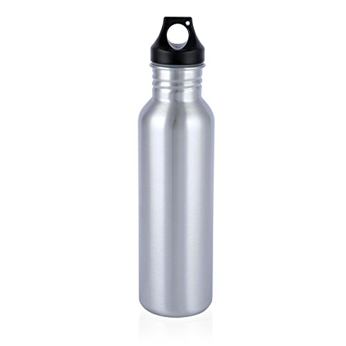 Neiko 71010 Stainless Steel Sports Water Bottle with Wide Mouth, 0.75L | BPA Free