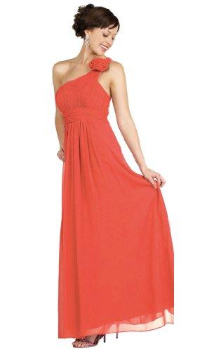 Chiffon Fiore Coral Vestito Una Angelstar Spalla UnxYWUw0