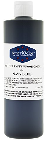 (AmeriColor Food Coloring, Navy Blue Soft Gel Paste, 13.5 Ounce)