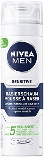 NIVEA MEN Sensitive Rasierschaum im 6er Pack (6 x 200 ml), Rasierschaum für eine glatte und sanfte Rasur, schonender Rasierschaum für Herren