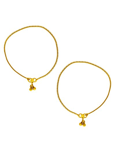 Anuradha Art Presenting Gold Finish Stylish Traditional Payal/Anklet for Women/Girls by Anuradha Art