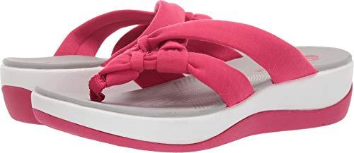 - CLARKS Women's Arla Jane Flip-Flop, Bright Rose Solid Textile, 7 M US
