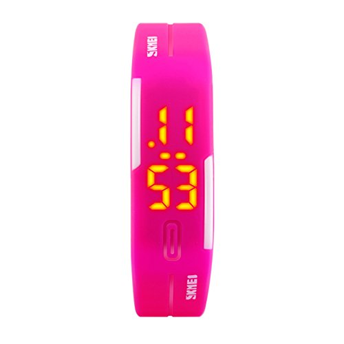 Wristwatch,Jelly digital watch Led wrist watch Rubber band Luminous Show time Child student Couples-A by FXBNHDFMF