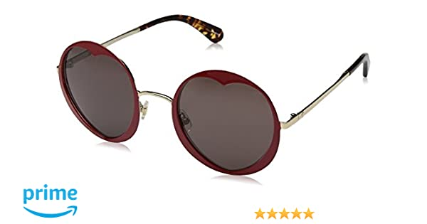 bf9611e856 Amazon.com  Kate Spade Women s Rosaria s Round Sunglasses RED 53 mm   Clothing