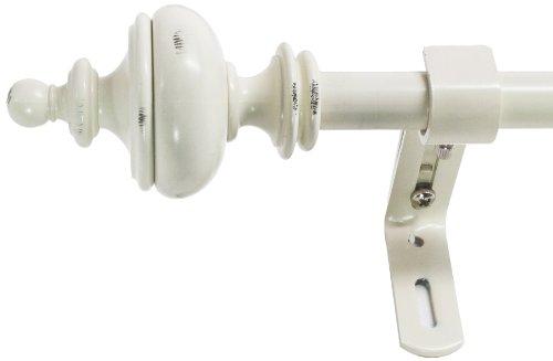 Montevilla 5/8-Inch Urn Window Treatment Rod Set, 26 to 48-Inch, Distressed - Montevilla Urn