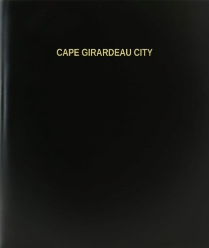 BookFactory® Cape Girardeau City Log Book / Journal / Logbook - 120 Page, 8.5