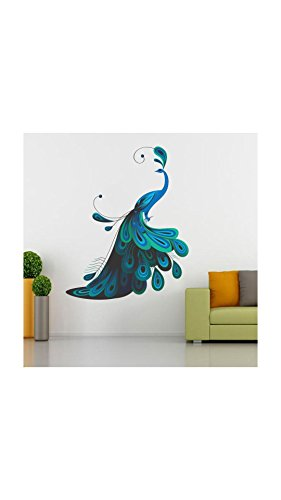 ESP Creation Modern Peacock Mulitcolor Removable Decor Mural Wall Stickers Decal Mural Wall Stickers...