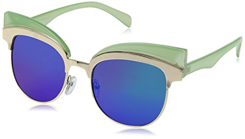A.J. Morgan Women's Reign Rectangular Sunglasses, Green, 68 - Sunglasses Reign