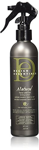 Design Essentials Natural Twist & Set Quick-Dry Setting Lotion w/Strengthening Vitamins & Proteins-Almond & Avocado Collection, 8oz.