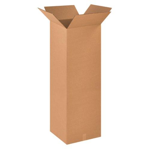 Aviditi 181848 Corrugated Box, 18'' Length x 18'' Width x 48'' Height, Kraft (Bundle of 10) by Aviditi