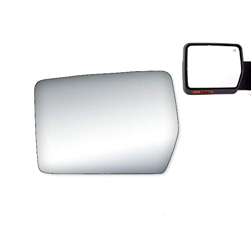 WLLW Mirror Glass Replacement for 04-11 F150 Pickup Truck Power Driver Side Left LH ()