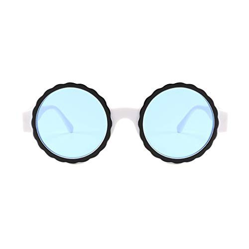 HYSGM Women Men Summer Round Frame Mask Sunglasses Acetate Frame Glasses -