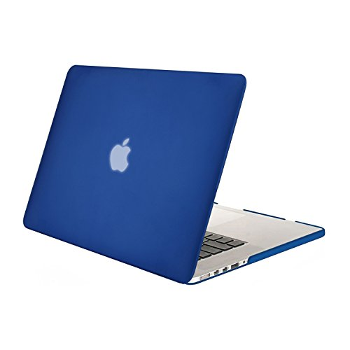 MOSISO Plastic Hard Shell Case Cover Only Compatible with Older Version MacBook Pro Retina 13 Inch (Models: A1502 & A1425) (Release 2015 - end 2012), Royal Blue