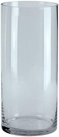 40cm transparent Vase à poser au sol ROMAN Vase en verre Ø15cm cylindre