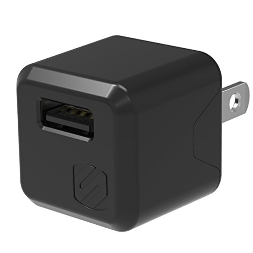 Scosche USBH121 M Supercube 12W Single USB Port Wall Charger for All USB Devices, Black ()