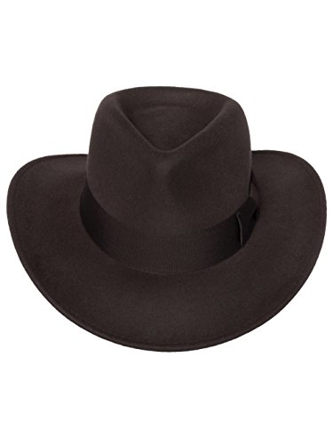 3337c5834 Men's Indiana Outback Fedora Hat |Crushable Wool Felt by Silver Canyon