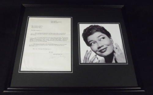 Pearl Bailey Signed Framed 16x20 Mac & Cheese Recipe & Photo Display (Pearl Cheese)
