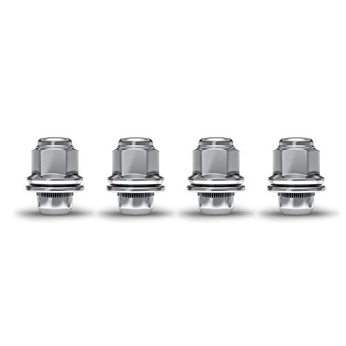 White Knight 5307 Chrome M12x1.50 M12x1.5 Toyota Tacoma OEM Factory Style Mag Lug Nut with Washer, 4 Pack