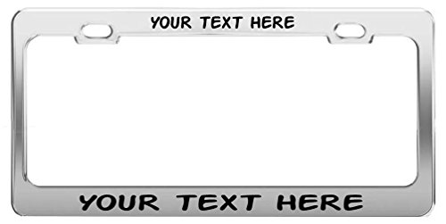 General Tag Custom Personalized, Chrome Metal License Plate Frame, Black Writing, Action Man