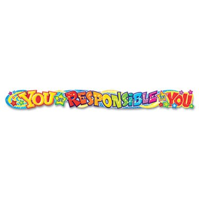 Quotable Expressions Wall Banner, You are Responsible for You, 10 ()