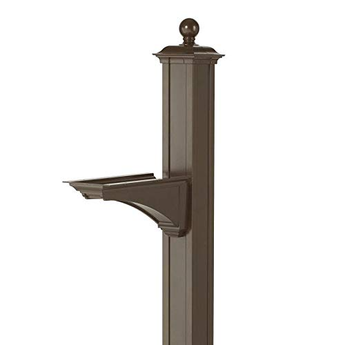 (Balmoral Deluxe Post and Bracket with Finial in Bronze)