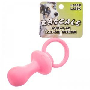 - Coastal Pet Rascals Latex Pacifier Dog Toy | Pink | 4.5-Inch Long