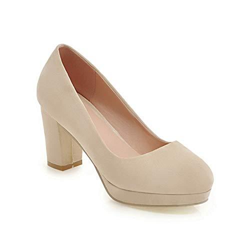 Beige Zapatos Mujer BalaMasa de uretano APL10404 Plataforma A6YOvw