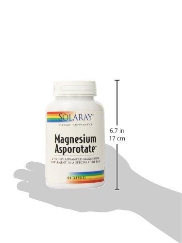 Solaray Magnesium Asporotate Supplement, 400 mg, 120 Count: Amazon.es: Salud y cuidado personal
