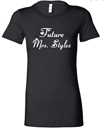 Small Black Juniors Future Mrs. Styles One Direction 1D Harry T-Shirt