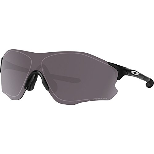 Oakley Men's Evzero Path Polarized Iridium Rectangular Sunglasses, Matte Black w/Prizm Daily Polarized, 138 - Prizm Black Polarized