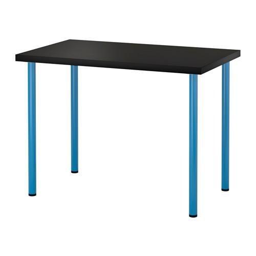 Blue Desk Leg - IKEA New Computer Desk Table Multi-use (Black-brown table and blue legs)