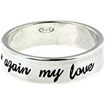 By Hannah Design Sterling Silver Personalized Ring