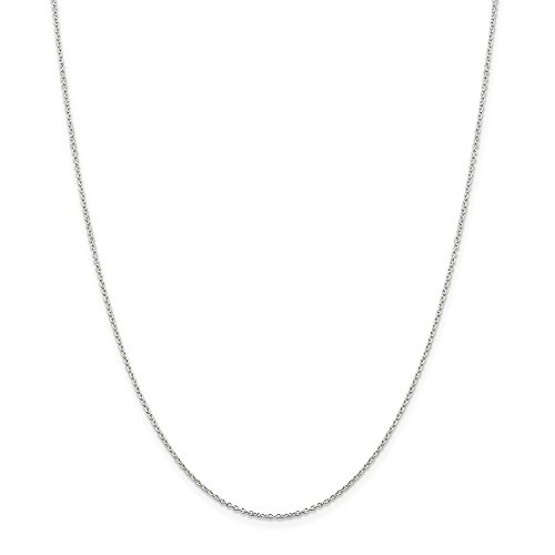 - Solid 925 Sterling Silver 1.25mm Cable Chain Necklace 24