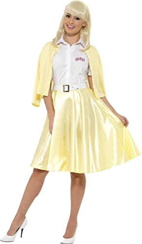 [Grease Good Sandy Costume Yellow Uk Dress 12-14] (Sandy Grease Costume Shirt)