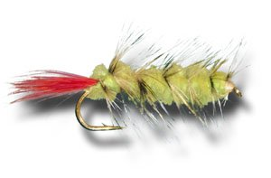 Woolly Worm - Yellow Fly Fishing Fly - Size 10 - 3 Pack