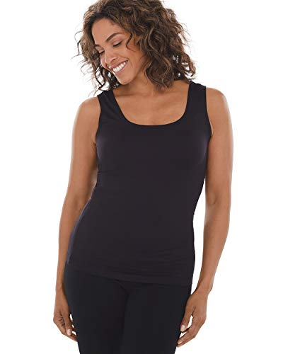 Chico's Women's Stretch Layering Tank Top Size 12/14 L (2) Black