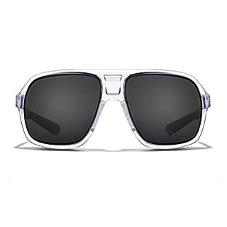 ROKA Torino Sports Performance Polarized Sunglasses for Men and Women - Matte Black Frame - Dark Carbon Polarized Lens