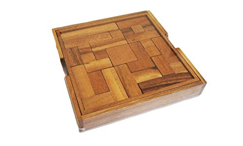 (CMStar Portable Wooden Pentominoes Puzzle Game Size Square)