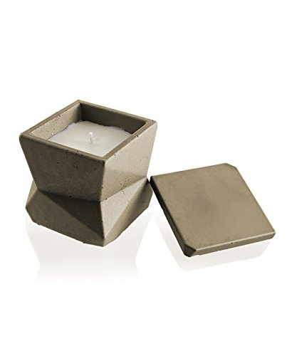 (Candellana Candles Candlefort Concrete Candle- Modern III- Golden Brown, Scent: for)