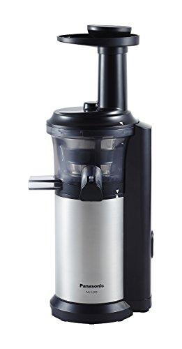 Fruit Juicer Attachment - Panasonic MJ-L500 Slow Juicer with Frozen Treat Attachment, Black/Silver (Renewed)