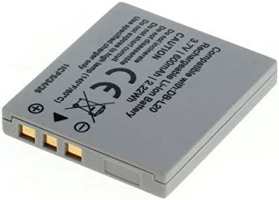 DB-L20 Batería//Cargador para Sanyo Xacti VPC-C1 VPC-C4 VPC-C5 VPC-C6 VPC-C40 Cam