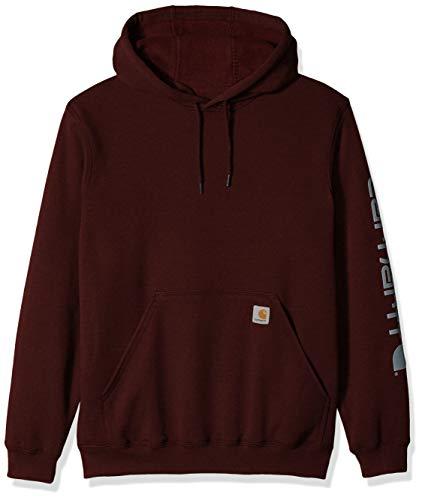 Carhartt Mens Midweight Signature Sleeve Logo Hooded Sweatshirt K288