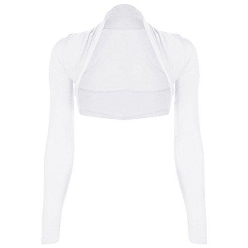 Mujer Bolero, manga larga, jersey, tallas 34–�?2 blanco