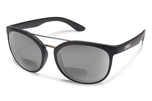 Suncloud Liberty Polarized Bi-Focal Reading Sunglasses in Matte Black with Grey Lens - Liberty Prescription Sunglasses