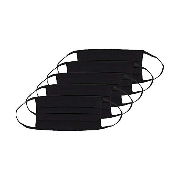 Oscar-Apparels-Wiederverwendbare-Stoffmaske-100-BCI-Baumwolle-mit-elastischer-Schlaufe-Erwachsene-5er-Pack