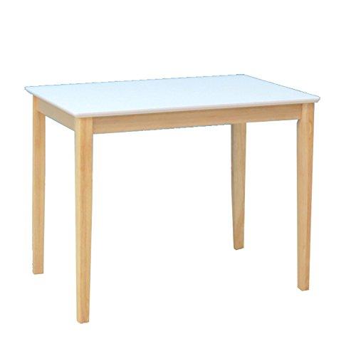 クリア塗装 ダイニングテーブル 2人掛 90cm kurosu90-360 90×60 ホワイト 白色 クリア ツートン ダイニング テーブル 机 木製 B07DHCD4Z3