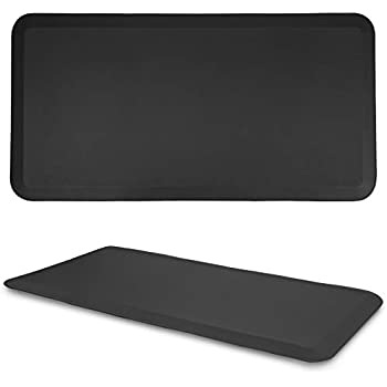 b87ba9294d3a Kitchen Anti Fatigue Mat Standing Desk Mat - SoftSaver 20 x 42 Inches -  Floor Mat Sit Stand Workstation Office Floor Mats - Non-Slip Grip Black Mat